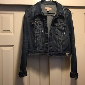 Guess Jean jacket size Large